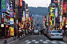 A street in Busan's shopping district Nampodong | Korea