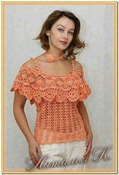 Fabulous Crochet a Little Black Crochet Dress Ideas. Georgeous Crochet a Little Black Crochet Dress Ideas. Blouse Au Crochet, Crochet Bolero, Black Crochet Dress, Crochet Shirt, Crochet Cardigan, Crochet Lace, Crochet Stitches, Crochet Wedding, Crochet Tops