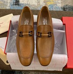 Ferragamo Calfskin Loafer Shoes Buy Mens Shoes, Shoes Men, Men's Shoes, Dress Shoes, Loafer Shoes, Loafers Men, Salvatore Ferragamo, Oxford Shoes, Stuff To Buy