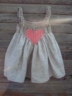 Summer baby dress Organic Hand Crocheted Baby Love by TheBabemuse