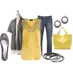 Love the yellow with gray!