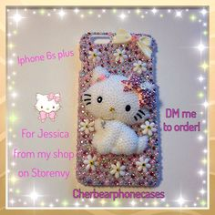 Charmmy Kitty custom case from my shop on Storenvy-Cherbearphonecases  Check out my Instagram @cchobbo to see all of my cases and you can always DM me there to order a custom case.