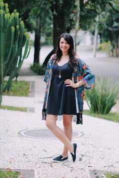 Look do dia: Quimono azul | Just Lia