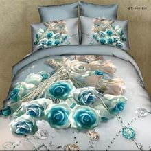 Jogo do fundamento. pintura 3d cama definir a cor verde folha de cama conjuntos de roupa de cama de Algodão Edredon/colcha/edredom capa roupa de cama cama edredon(China (Mainland))