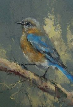 Bluebird, painting by artist Mike Beeman