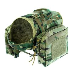 Hiking Dog Packs - Yisibo Tactical Dog Vest Training Dog Pack Molle Compact Vest Harness Hound Vest For Travel Camping Hiking Backpack Saddle Bag Rucksack Medium  Large Dog * Be sure to check out this awesome product.