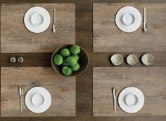 faux bois placemats by chilewich