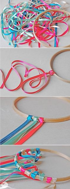 A Kiss of Colour-DIY 26-Decoracion colgante de lazos-Ribbon chandelier-03