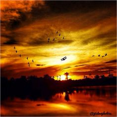 Good Evening Yall ( Landscape Sun Sunshine Popular Sky Clouds Photography Airplane Lake Nature Pinterest iphonesia iphoneolny Fashion Beautiful )