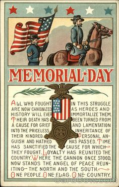 memorial day postcards