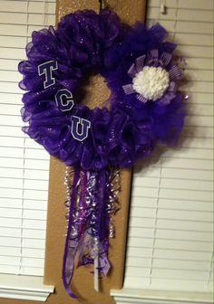 Large TCU wreath
