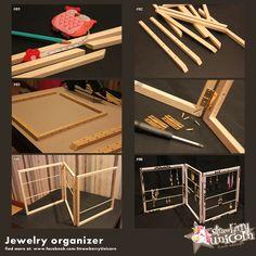 DIY Collapsible Jewelry Organizer Display - Tutoriel - présentoir à bijoux paravent - Strawberry Unicorn