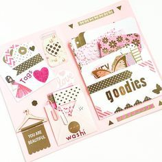 Pink & Gold happy mail in the works Pen Pal Letters, Pocket Letters, Snail Mail Flipbook, Mail Tag, Snail Mail Pen Pals, Scrapbook Journal, Scrapbook Cards, Happy Mail, Happy Planner
