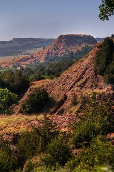 "The distinct red Gypsum Hills are made up of floodplains, buttes, canyons, sinkholes and mesas---all things you wouldn't expect to find on the seemingly ""flat"" grasslands of Kansas."