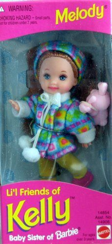 Barbie - Lil Friends of Kelly - Melody Doll - 1995 I have this one. I made her my red headed step child a lot LOL Barbie Kelly, Barbie I, Barbie World, Barbie Stuff, 90s Stuff, 90s Childhood, My Childhood Memories, Vintage Barbie, Vintage Toys
