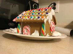 Candy canes for Windows  By Gingerbread house by my boyfriends daughter brilliant and amazing.  She is 9 years.  I just supervised.