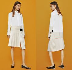 Paco Rabanne 2015 Pre Fall Autumn Womens Lookbook Presentation - Athletic Sporty Quilted Leather Accordion Pleats Dress Grommets Stripes Turtleneck Zigzag Houndstooth Slim Tapered Pants Trousers Diamonds Zipper Blouse Skirt Frock Handkerchief Hem Sequins Sheer Chiffon Miniskirt Outerwear Coat Cords Corduroy