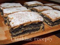 Kysnuté makové rezy Sweet Desserts, Sweet Recipes, Eastern European Recipes, Kolaci I Torte, Strudel, Banana Bread, Sandwiches, Food And Drink, Yummy Food