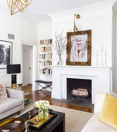 Get stunning fireplace mantel styling ideas from the House & Home archives to help brighten up your living room this winter. Fireplace Surrounds, Fireplace Mantels, Mantles, Fireplace Ideas, Fireplace Design, Fireplaces, Foyers, Living Room Remodel, Living Room Decor