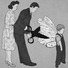 """""""Your whole idea about yourself is borrowed…borrowed from those who have no idea of who they are themselves."""" ~ Osho  www.mynzah.com Satirical Illustrations, Deep Art, Arte Obscura, Its A Mans World, Banksy, Art Drawings, Street Art, Parents, Illustration Art"""