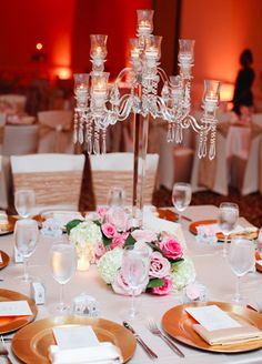 Crystal Centerpieces // Still-Life Media Photography // Planning: A Conceal Event Chandelier Centerpiece, Crystal Centerpieces, Elegant Centerpieces, Wedding Table Centerpieces, Centerpiece Decorations, Reception Decorations, Event Decor, Chic Wedding, Our Wedding