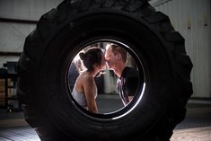 Great engagement photoshoot for this crossfit couple. Incorporate a shared passion