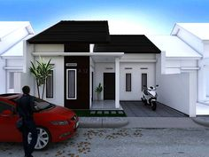 41 Simple Minimalist 1 Floor Model Homes - Home Design Minimalist Bungalow Haus Design, Modern House Design, Home Room Design, Home Interior Design, Style At Home, Modern Minimalist House, Latest House Designs, Facade House, Model Homes