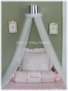Bedroom canopy tent crown Silver SALE PRINCESS by SoZoeyBoutique, $37.99