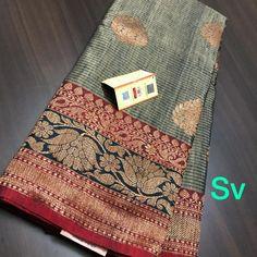 Tussar Silk Saree, Kanchipuram Saree, Aloo Methi, Silk Saree Blouse Designs, Graph Design, Saree Models, Saree Dress, Siri, Beautiful Saree