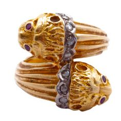LALAOUNIS Double Lion Ring