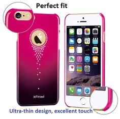 Feyeshoppy Luxury Transparent Clear Crystal Rhinestone Decoration Bling Case Cover For IPhone 6S