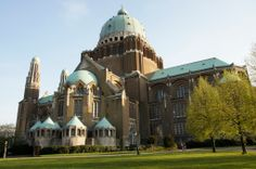 The National Basilica of the Sacred Heart of Koekelberg, in Brussels, Belgium, largest Art Deco edifice ever built.