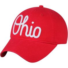 90a1b148 Ohio State Buckeyes Women's Scarlet Advancement Slouch Adjustable Hat