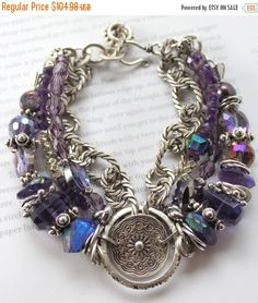 ON SALE bracelet amethyst bracelet african by soulfuledges on Etsy