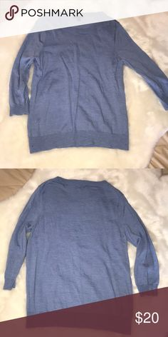 J. CREW BLUE WOOL SWEATER J. Crew blue 100% wool sweater. Only worn once, in perfect condition. Fits true to size. Will lower price if bundled with other J. Crew products. J. Crew Sweaters Crew & Scoop Necks