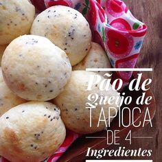Receita de Pão de Queijo de Tapioca sem Glúten!!! Confira essa e outras deliciosas receitas saudáveis no nosso Instagram.   Acesse: https://www.instagram.com/emporioecco/