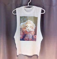 LIMITED CHANEL Flower Cutoff Tee DIY dope swag hipster tumblr chloe fendi prada