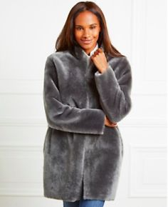 Fastening with hook-and-eye closures at the front, this pure sheepskin jacket is a glamourous investment you'll look forward to wearing each Autumn. It's fully reversible – even the patch pockets will turn inside out – so you ca Sheepskin Coat, The White Company, Fur Coat, Jackets, Image, Fashion, Down Jackets, Moda, Shearling Coat
