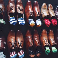 """""""I just got my July socks from Say it with a Sock, my sock subscription service. This month's socks were from Happy Socks. The styles are great and quality is top. Gentleman Mode, Gentleman Shoes, Gentleman Style, Sock Shoes, Men's Shoes, Dress Shoes, Shoes Men, Sharp Dressed Man, Well Dressed Men"""