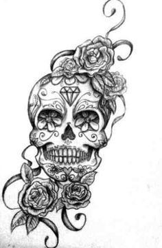 really dont like skull tattoos but this is really pretty!