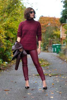 remix: burgundy pants, take two. - My Style Pill