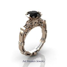 Art Masters Caravaggio 14K Rose Gold 1.0 Ct Black by artmasters