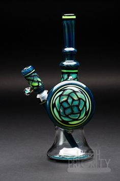 Awesome blue and green bong!