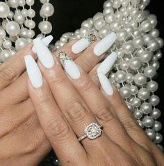 Beautiful trendy white nails