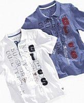 Guess Kids Shirt, Boys Graphic Polo Shirts