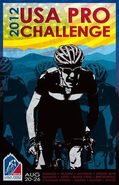 Designed by Leanna Johnson for the National 2012 USA Pro Cycling Challenge poster.