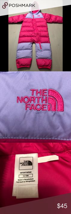 The North Face snowsuit 💕North Face snow suit💕EXCELLENT condition💕 ALMOST BRAND NEW💕worn only for a few hours while sitting in stroller once! Outgrew it💕Super warm,cute & comfortable💕Great for the snow or just to stay toasty💕 The North Face Jackets & Coats Puffers