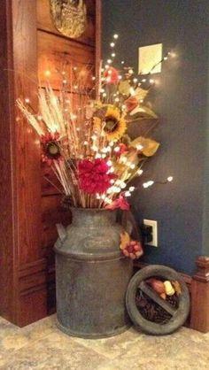 15 Unique Ideas To Displays Flowers To Create A Centerpiece 15 einzigartige Ideen, um Blumen z. Deco Champetre, Displays, Diy Casa, Deco Originale, Boho Home, Deco Floral, Home And Deco, Fall Crafts, Home Projects