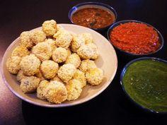Gormandize: Chadian Millet Balls with 3 Dipping Sauces (Peanut Sauce, Saka Saka Sauce & Harissa Lime Sauce)