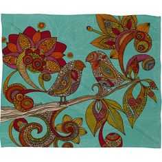 OR this for the Living Room? I pinned this Hello Birds Throw Blanket from the Valentina Ramos event at Joss and Main!